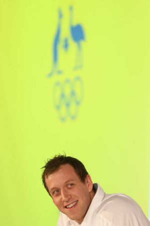 Olympics on the horizon: Joe Ingles talks to media during an Australian Olympic press conference at the Museum of ...