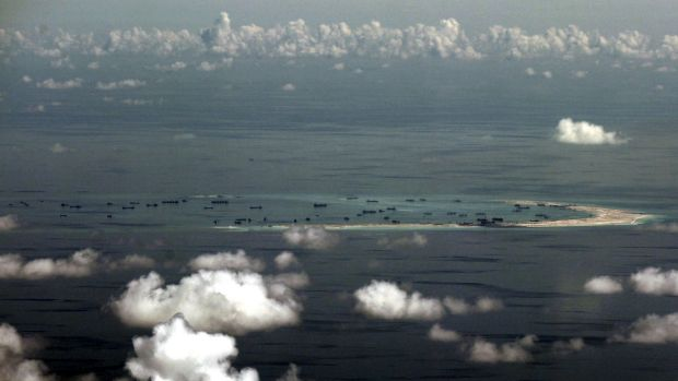 Fleets of Chinese dredges have completed reclamation work in the Spratly Islands of the South China Sea.