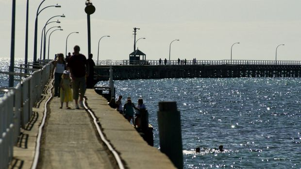 The shark was spotted today near the Busselton Jetty.
