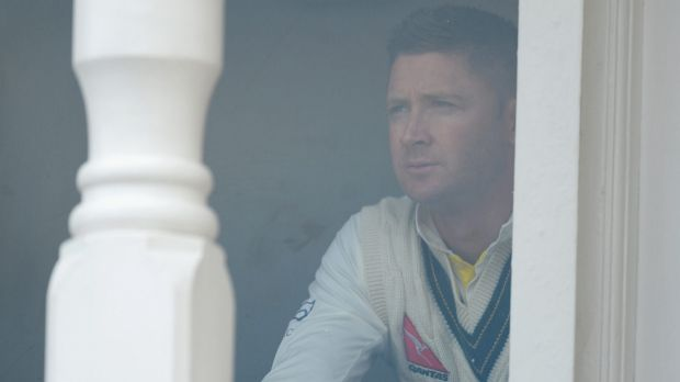 Terrible day at the office: Michael Clarke.