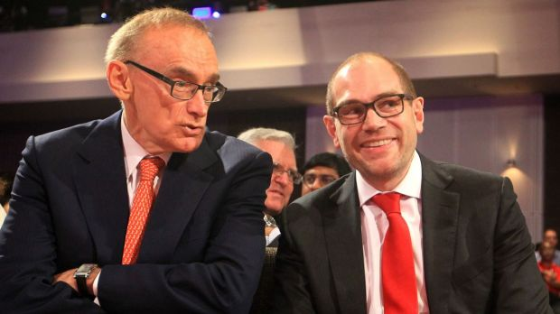 Labor powerbroker Jamie Clements, pictured with former premier Bob Carr last year.