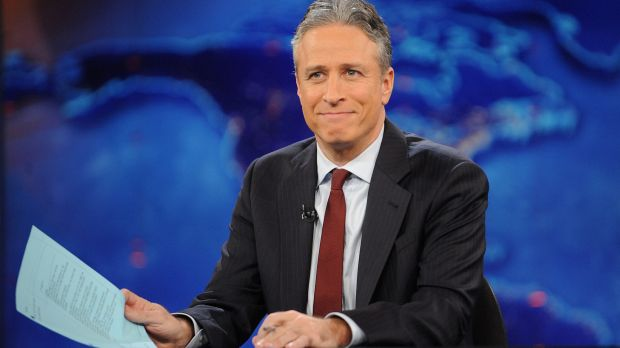 End of an era ... Jon Stewart said goodbye on August 6, after 16 years on <em>The Daily Show.</em>