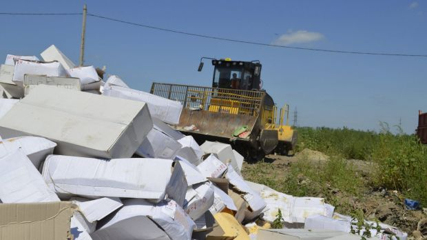 President Vladimir Putin's order to destroy illegally imported food was implemented in the Belgorod region on Thursday.