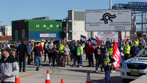 Some 40 per cent of Hutchison Ports Australia's workforce of 224 got the overnight termination notices, 57 in Sydney and ...