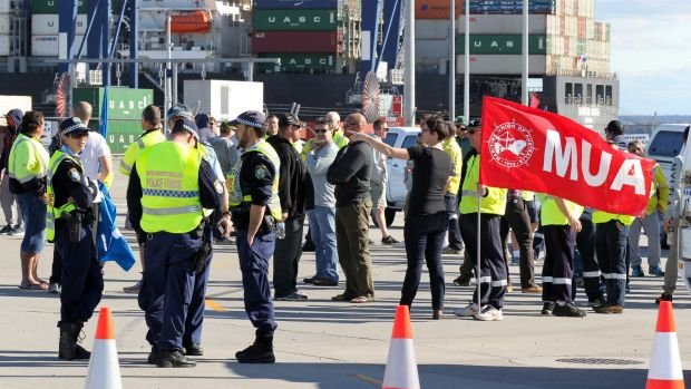 The Maritime Union of Australia is up in arms about Hutchison Ports Australia's actions.