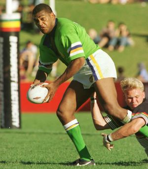Ken Nagas in action for the Canberra Raiders.