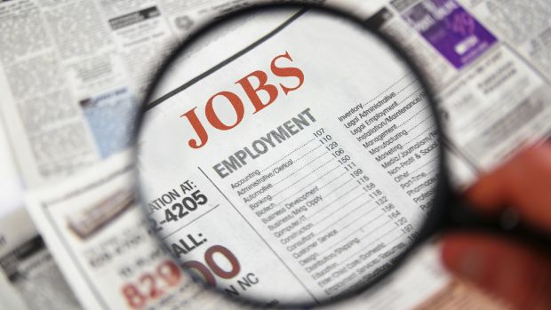 The jobless rate fell to 5.7 per cent in April, beating expectations of a flat rate of 5.9 per cent.