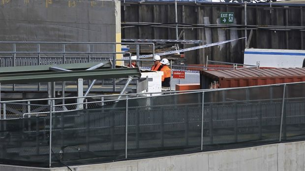 A worker was seriously injuredat Barangaroo.