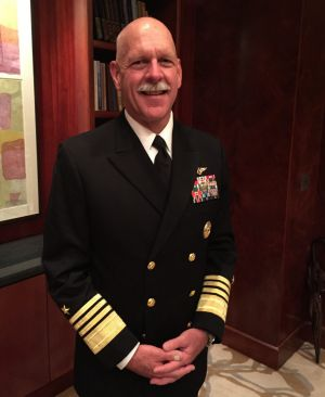 """Admiral Scott Swift warns against the threat of """"might makes right""""."""