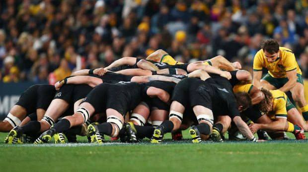 Crucial contest: Nick Phipps at the base of the Wallabies' scrum during his self-confessed Bledisloe Cup 'shocker'.