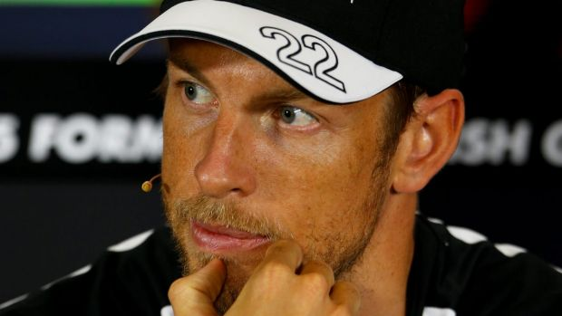 """Positive influence"": Jenson Button and Playboy model Brittny Ward went public with their relationship last week."