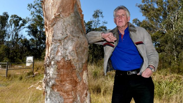 Wayne Olling at the Shanes Park Woodland, a site set aside by the State Government for protection and part of which is ...