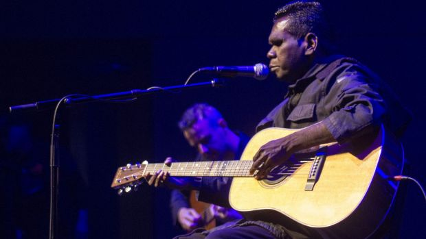 Gurrumul performs songs from his new album <i>Gospel Songs</i> at Hamer Hall.