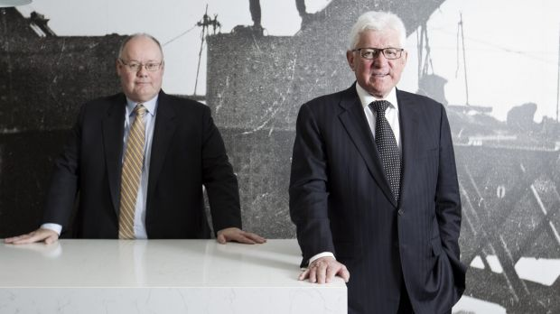 Link Group finance chief John Hawkins, left, and chief executive John McMurtrie.