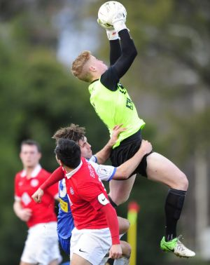 Canberra FC goalkeeper Sam Brown is one of 18 players named in the inaugural CU Academy squad.