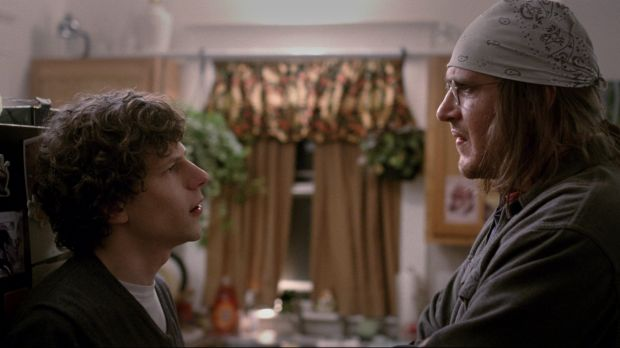 Jesse Eisenberg and Jason Segel in <i>The End of the Tour</i>.