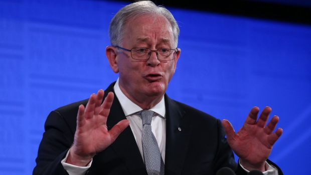 Trade Minister Andrew Robb speaks to the National Press Club in Canberra on Wednesday.