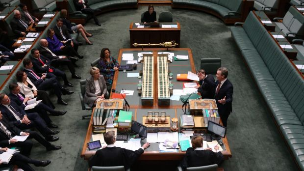 Leader of the House Christopher Pyne shuts down an attempt by Labor to have Justice Heydon removed as royal commissioner.