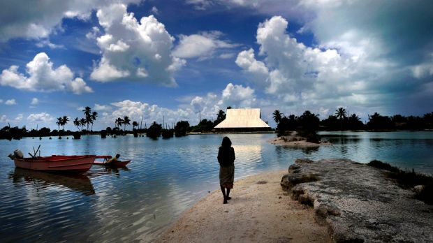Kiribati is under threat from rising sea levels and changing weather patterns.