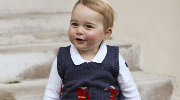 Prince George at Kensington Palace, London.