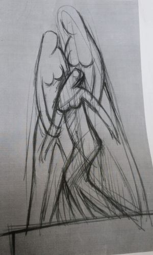 "A concept drawing for proposed statue to be put in Strathfield of ""comfort women"" used as sex slaves by Japanese soldiers."