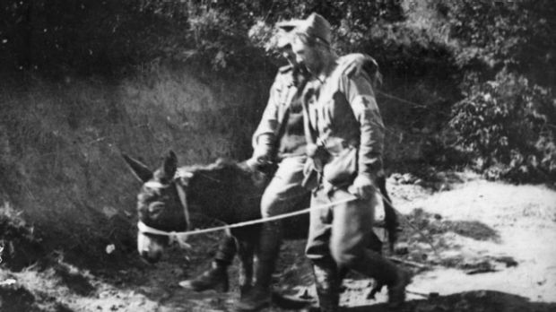 Private John Simpson Kirkpatrick supports a wounded soldier on his donkey at Gallipoli. How many others suffered less ...