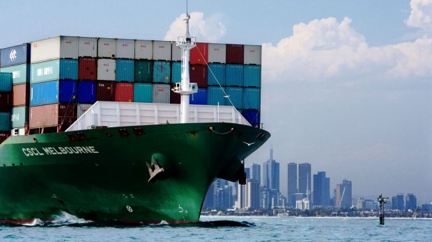 """Melbourne seems certain to lose its status as """"number one container port"""" to Sydney."""