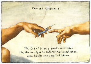 Pointed jab ... the Leunig cartoon, which has attracted the ire of many.