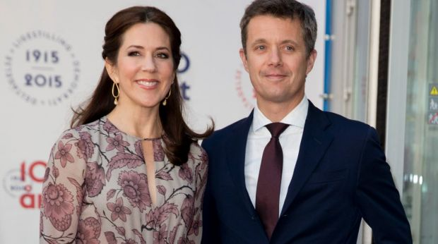 In their normal, formal-wear: Crown Prince Frederik and Crown Princess Mary of Denmark.