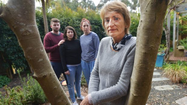 Dying with dignity campaigner Ray Godbold's family (left to right) son Rory, daughter Ella, daughter Tara Szafraniec and ...