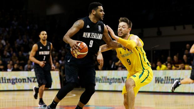 NBA hopeful: Corey Webster is challenged by Matthew Dellavedova during game two of the New Zealand Tall Blacks versus ...