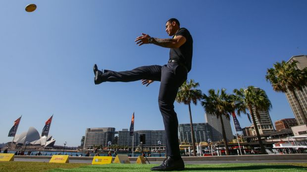 Ready for kick-off: Israel Folau is ready for the Rugby World Cup to get underway.