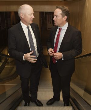 The strategy for Wesfarmers was hatched by Richard Goyder (left) and John Gilliam.
