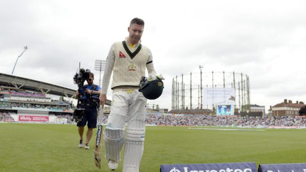 No fairytale: Michael Clarke leaves the field after being dismissed in his final Test for Australia.