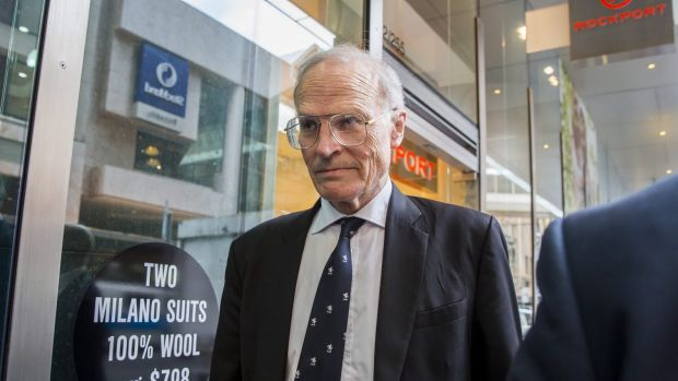 Dyson Heydon outside the royal commission last week.