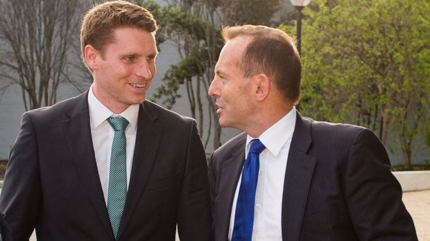 Andrew Hastie and then-Prime Minister Tony Abbott.