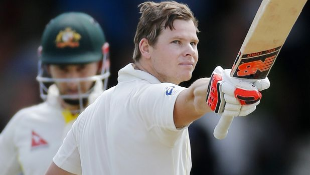 Steve Smith: scored a century after a reprieve.