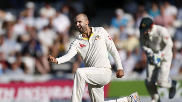 Leading from the front: Nathan Lyon.
