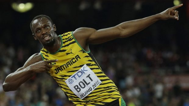 World Athletics 2015: Usain Bolt wins 100 metres title ...