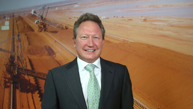 Andrew Forrest's Fortescue is a star performer today.
