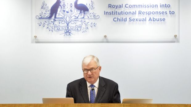 Justice Peter McClellan at the Royal Commission into Institutional Responses to Child Sexual Abuse.