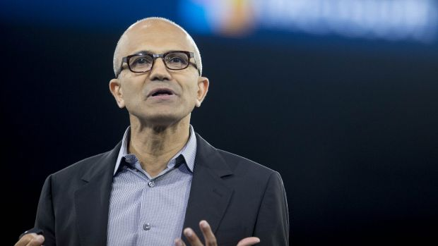 Microsoft chief executive Satya Nadella said the next era of computing will be defined by wearable devices, team ...