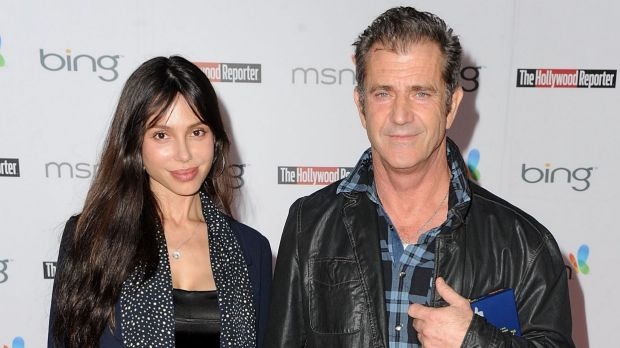 Mel Gibson with former girlfriend Oksana Grigorieva in happier times in 2004.