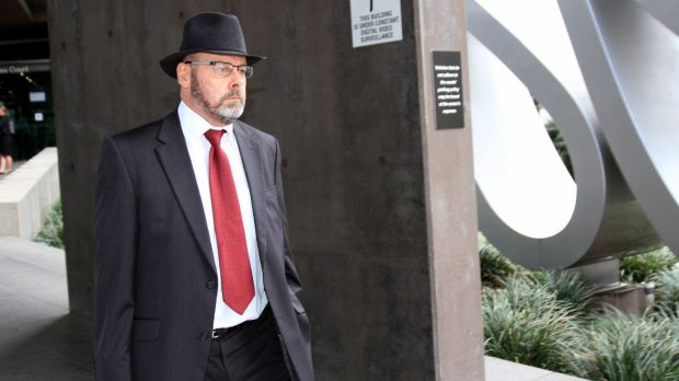 Brisbane barrister Stephen Keim, acting for the family of Hamid Khazaei, leaves court on Tuesday.