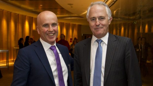 NSW Education Minister Adrian Piccoli and Prime Minister Malcolm Turnbull.