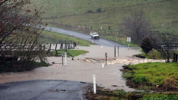 Torrential rain caused havoc in the Illawarra region, south-east of Warragamba.