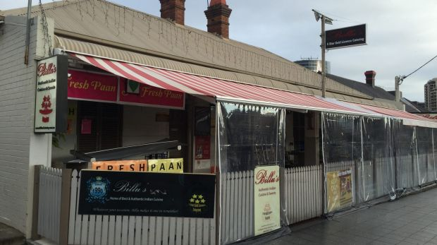 Billu's Indian Eatery was shot at by an unknown gunman on Tuesday night.