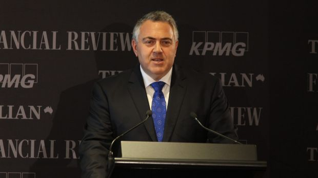 Treasurer Joe Hockey at his opening address at the National Reform Summit in Sydney.