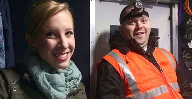 Shot dead ... Journalists Alison Parker and Adam Ward had worked together regularly, posting photos on the job to Twitter.