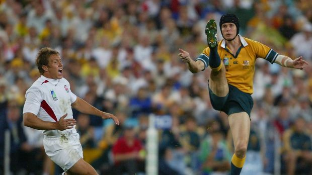 Cancer scare: Stephen Larkham was still playing for the Wallabies when he had a melanoma removed from behind his knee in ...
